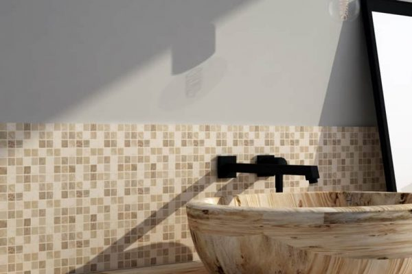 Pietrarreda mosaico 15 miscela beige 2